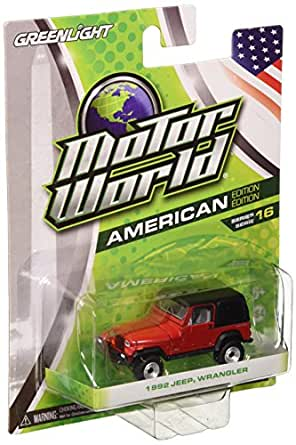 GreenLight 1:64 Motor World Series 16 1992 Jeep Wrangler Hard Top (Yoji) Diecast Vehicle
