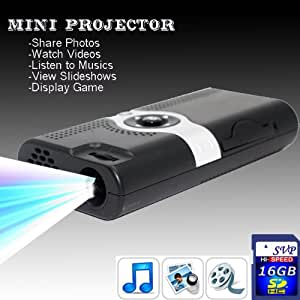 SVP NEW! PP003(with 16GB Card) Portable POCKET PROJECTOR