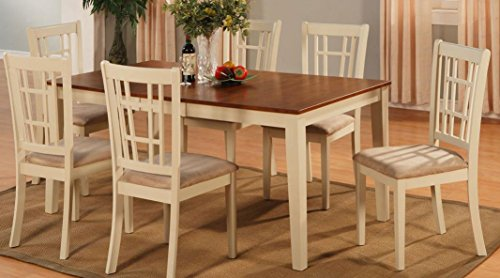East West Furniture Nit Whi T Rectangular Dining Table