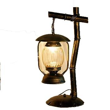 MAOFALZZNA Lámpara de Mesa de Hierro Forjado Retro ...