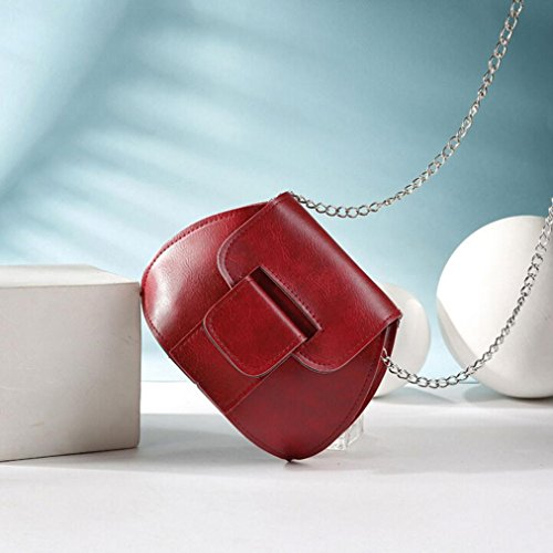 Fashion Wine Handbag Women Shoulder Mini Cross Body Leather GBSELL Bag ZvUxU