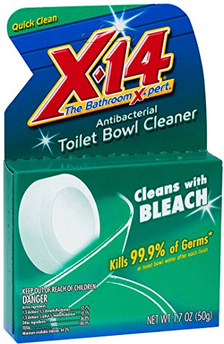 (X-14Bleach Automatic Toilet Bowl Cleaner, 1.7 OZ [12-Pack])