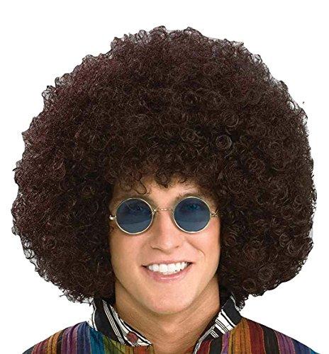 Halloween Disco Costumes (Forum Novelties Men's Jumbo Afro Hippie Costume Wig, Brown, One Size)