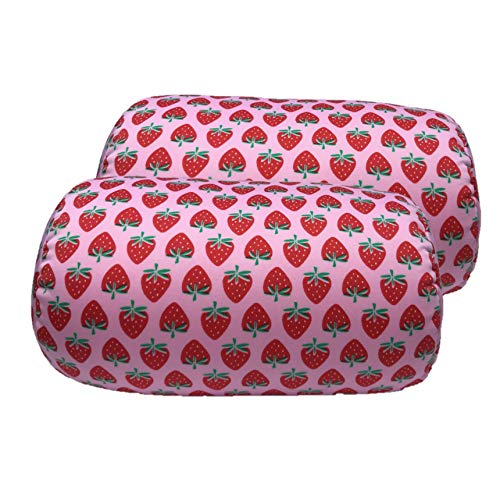 Bookishbunny 2pcs Micro Bead Roll Pillow Cushion for Bed Back Neck Head Body Support, 12
