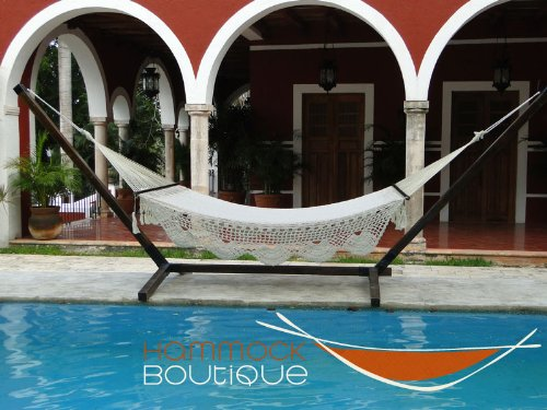 COMBO: American Deluxe Hammock COTTON + Stand Pine wood frame 100% cotton handmade