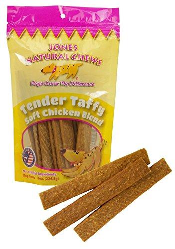 Image of Jones Natural Chews Chicken Tender Taffy (2 of 8 oz Packs) Dog Snack …