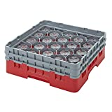 Cambro 20 Compartment Camrack 5 1/4'' Red