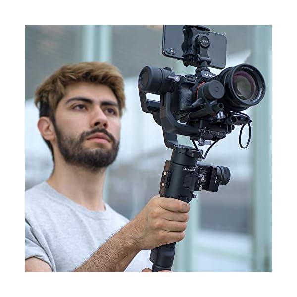 DJI Ronin-SC Pro Combo Gimbal Kit con Stabilizzatore Professionale Portatile a 3 Assi, Cavi di Controllo, Supporto, per Fotocamera Mirrorless, Compatibile con Nikon, Canon, Panasonic, Fujifilm 6 spesavip