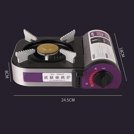 Lixada Estufa de camping de aleación de aluminio Cassette Grill portátil Mini estufa de gas butano quemador horno para acampar al aire libre picnic ...