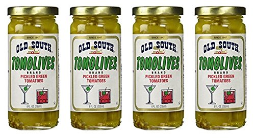 Old South Tomolives Pickled Green Tomatoes 8 Oz Jar (4 Pack)