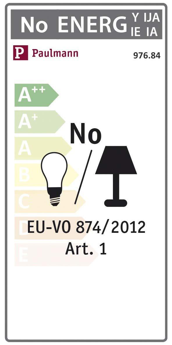 Accesorio de iluminaci/ón Paulmann 976.84 montaje y Secci/ón de riel de iluminaci/ón, Techo, Blanco, Metal, 1000 W, 230 V