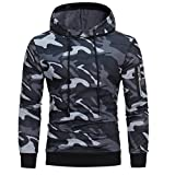 Camouflage Hoodie, Teresamoon Mens' Hooded Sweatshirt Jacket Coat Outwear