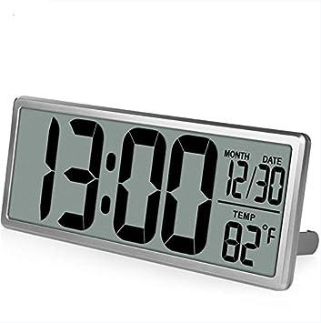 """HzxlT Reloj de Pared Digital de Gran visión Adicional Reloj de Alarma Gigante 13.8""""Pantalla"""