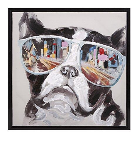 Imax 82202 City Shades Dog Framed Canvas
