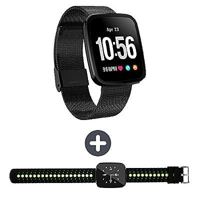 EnIceHime V6 Smart Watch Bluetooth Fitness Watch, IP 67 Waterproof Touchscreen, Fitness/Sport Activity Tracker with Heart & Sleep Monitor Smart Bracelet Watch for Men Women Kids