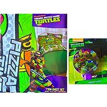 Teenage Mutant Ninja Turtles Twin Sheet Set Along with Teenage Mutant Ninja Turtles Night Light