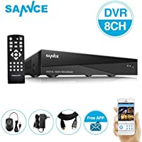 SANNCE Security System 8CH 720P 1080N DVR Recorder with Smartphone Easy Remote Access & HDMI Video Output, No HDD