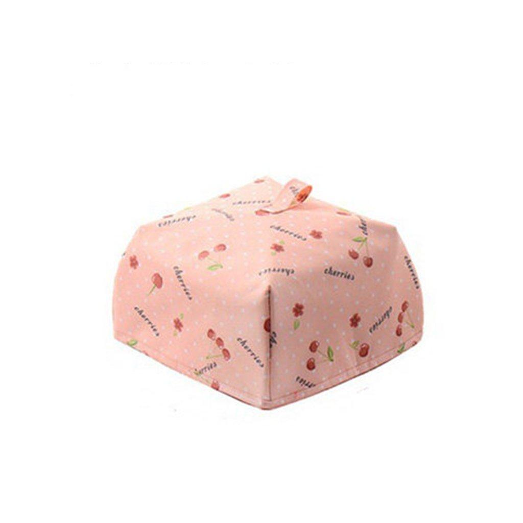 CHENGYI Rosa Faltbare Isolierung Lebensmittel Abdeckung Essen Isolierung Haube Quadrat Isolierung Abdeckung ESS-Tischdecke