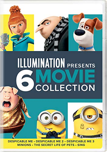 Illumination Presents: 6-Movie Collection (Despicable Me / Despicable Me 2 / Despicable Me 3 / Minions / The Secret Life of Pets / Sing) -