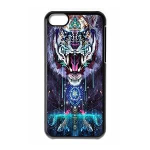 Custom DIY Phone Case Tiger head ART Pattern FOR Ipod Touch 6 APPL8294559