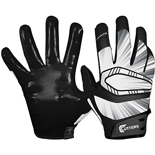 Cutters Gloves REV Pro Receiver Glove (Pair), Black, Large
