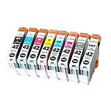 8x Imprimieux Cartouche d'encre CLI-42 Noir et Couleur compatible pour Canon Pixma Pro-100