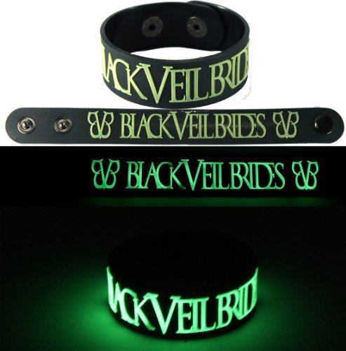 Bride In Black (Black Veil Brides New Bracelet Wristband Gg1 Glow In The)