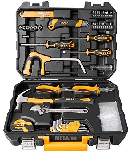 TOOLSCENTRE Tool Kit for Home and Professional Use (Yellow, HKTHP21171) - 117 Pcs