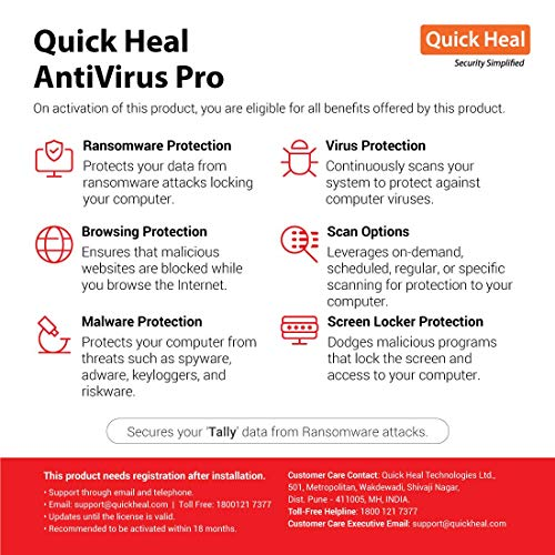Quick Heal Antivirus Pro Latest Version - 1 PC, 1 Year (Email Delivery in 2 hours- No CD) 2