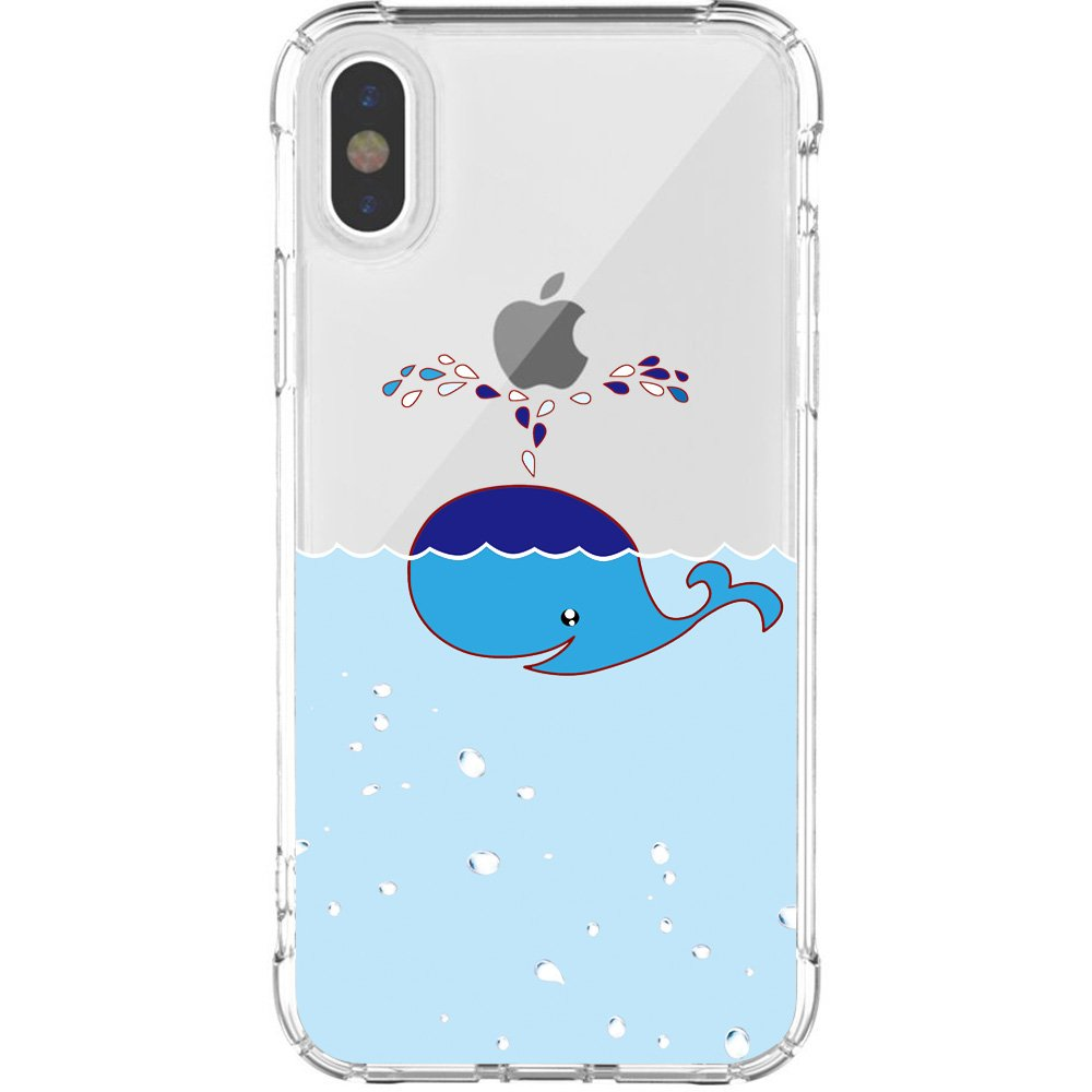 121ab7050c77 JAHOLAN iPhone X Case Amusing Whimsical Design Clear Cute TPU Soft Case  Rubber Silicone Cover Phone Case for Apple iPhone Xs 2018 / iPhone X 2017  (5.8 ...