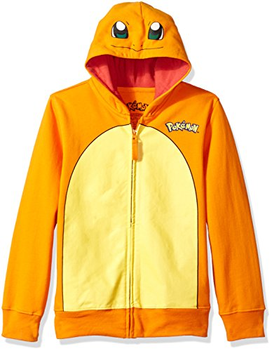 Charmander Costume Halloween (Pokemon Big Boys Charmander Costume Hoodie, Orange, L-14/16)