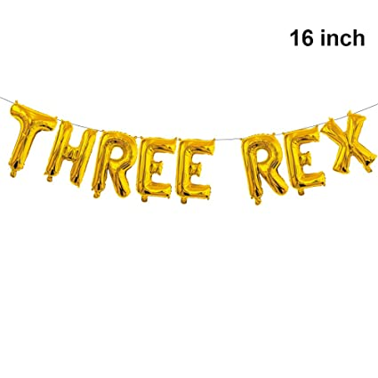 Amazon.com: Globo de tres letras Rex para cumpleaños de tres ...