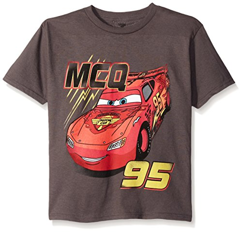 Disney Boys' Little Boys' Cars Lightning Mcqueen T-Shirt, 95 Charcoal, Large-7 -