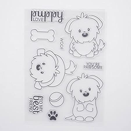Clear Stamp+Dies Cutting Welcome to Joyful Home Puddy Metal Cutting Dies Stamp Stencils DIY Scrapbooking Photo Album Decor Cards