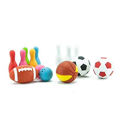 Iwako Japanese Sports Eraser Set: Toys & Games