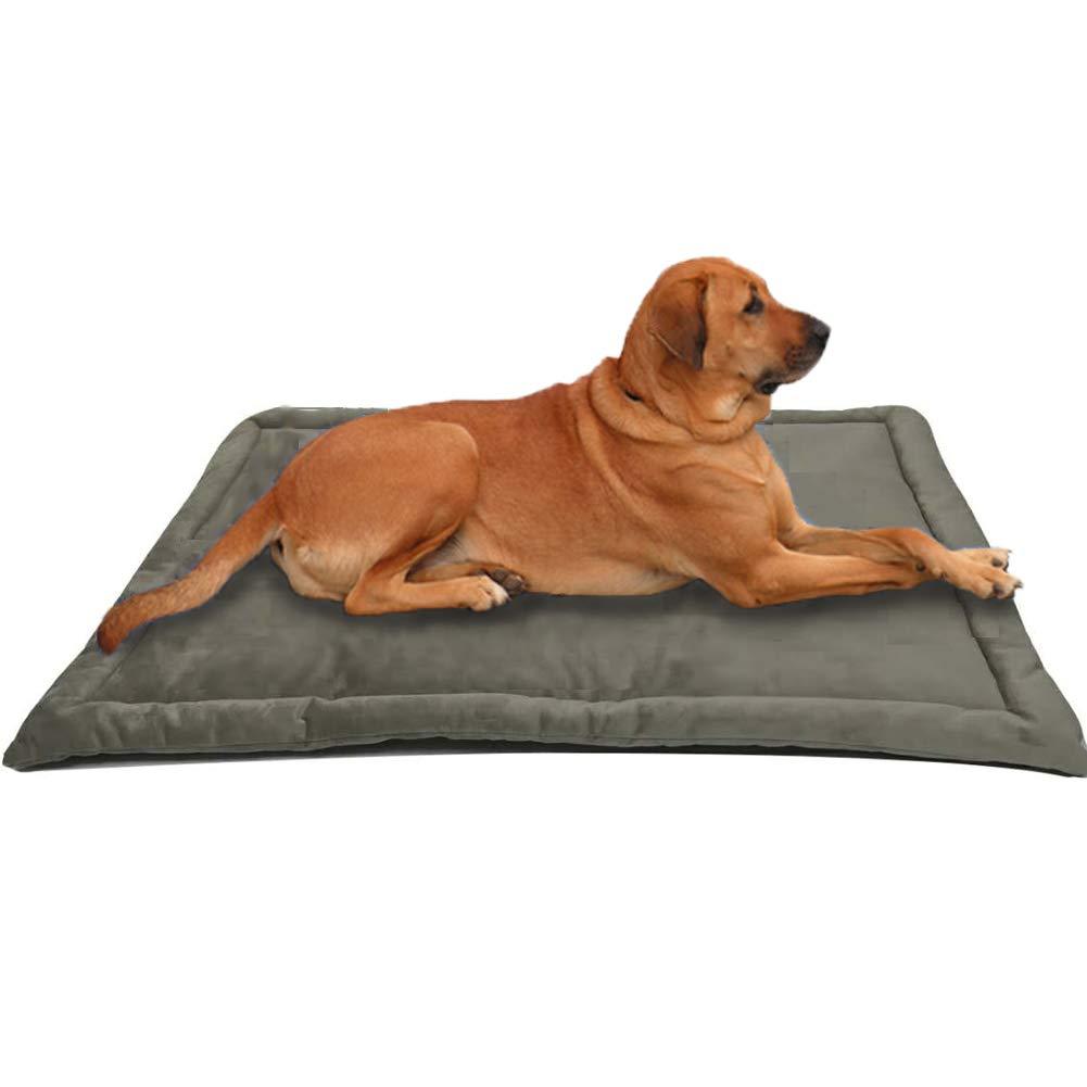 Dog Bed Mat Washable Soft Fleece Crate Pad - Anti-Slip Fleece Kennel Pad for Small Medium Large Pets Mattress