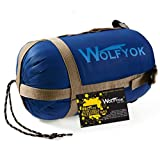 Wolfyok(TM) Portable Outdoor Traveling Sleeping Bag, Hiking Envelope Sleeping Bag, Multifunctional Camping Sleeping Bag for Spring, Summer, Autumn