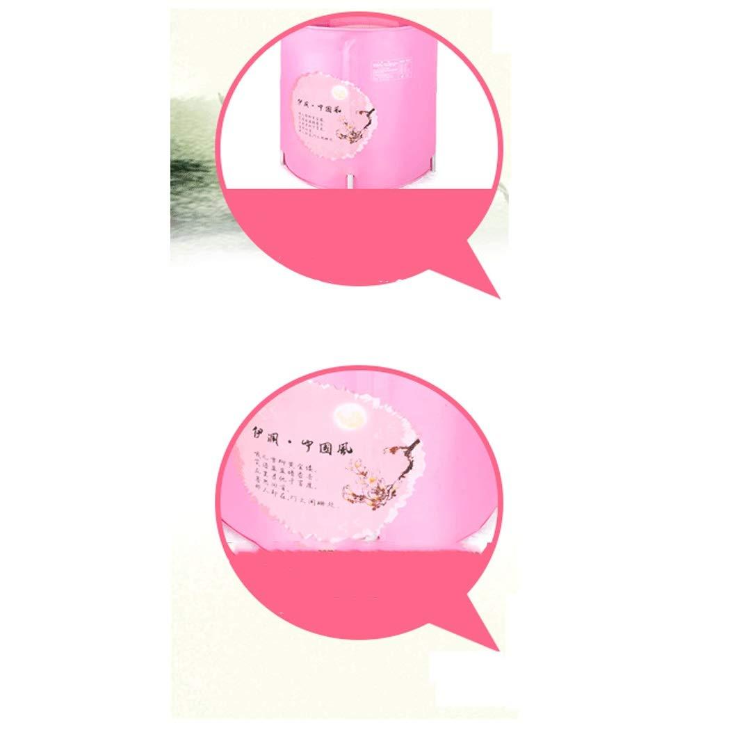 YONGYONG Chinese Style Pink Elegant Bathtub Bath Tub 60 * 60cm (Color : Pink) by Yongyong (Image #4)