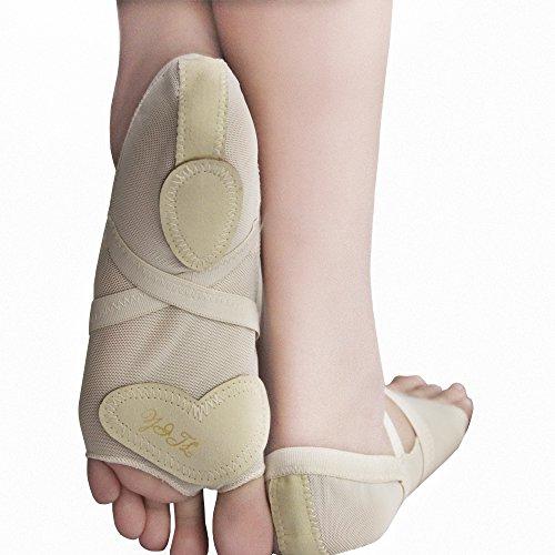 Yaling International Trading Limited ISYITLTY Frauen Ballett Bauchtanz lyrische halbe Sohle Pfoten Pad Fuß Thong Dance Paw Schuhe 8 Styles Feige