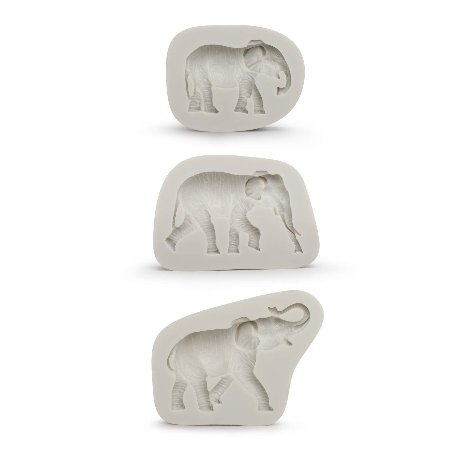 Elephant Chocolate Mold, Beasea Elephant Silicone Cupcake Mold Candy Mold for Party Holiday Cake, Soap, Ice Cube, Gummy, Cookie, Biscuit Decoration
