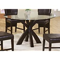 Coaster Home Furnishings 101071 Casual Dining Table Base, Deep Merlot Finish(Glass not included)
