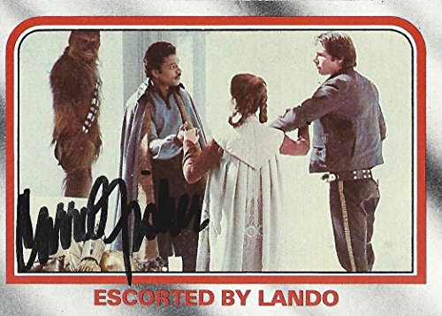 AUTOGRAPHED Carrie Fisher 1980 Star Wars The Empire Strikes Back ESCORTED BY LANDO (Story Digest) Princess Leia Vintage & Original Signed Collectible Movie Trading Card #85 with COA