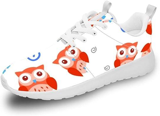 Mesllings Zapatillas de Running Unisex con diseño de búhos de ...