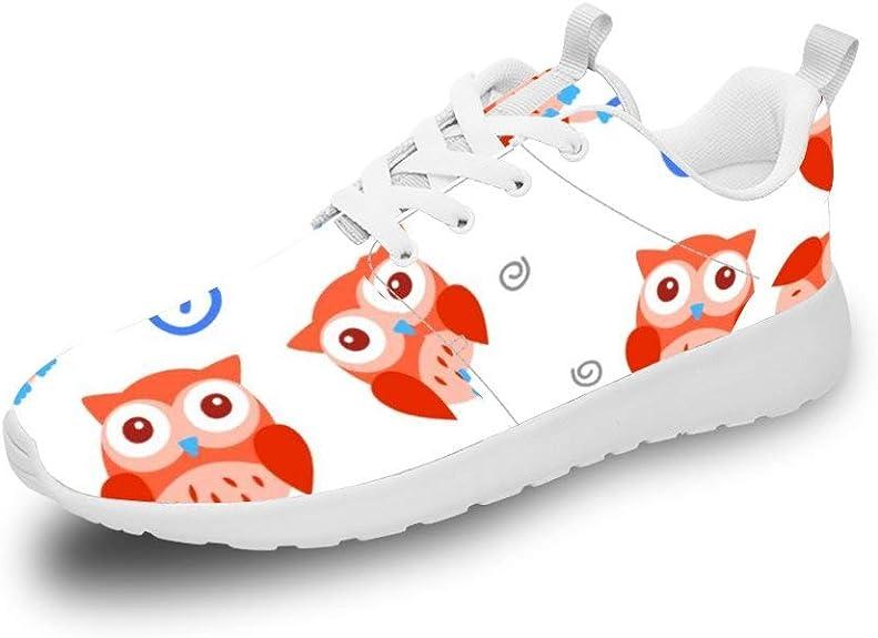 Mesllings Zapatillas de Running Unisex con diseño de búhos de Dibujos Animados (2) Zapatos Deportivos Ligeros de Moda para Exteriores: Amazon.es: Zapatos y complementos
