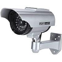 Cámara solar simulada de alta simulación LED de cámara de seguridad de vigilancia CCTV al aire libre con luz de registro…