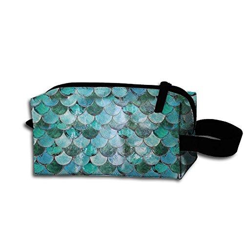 Chaming Pastel Mermaid Travel Cosmetic Bag Portable Organizer Multifuncition Handbag (Equip Briefs)