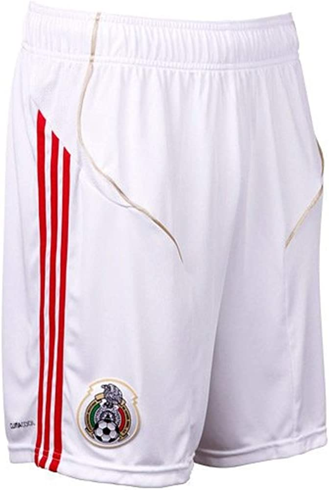 adidas World Cup Mexico White Home Soccer Shorts 11/12