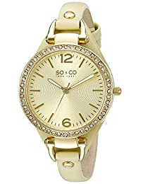 SO & CO New York  Women's 5061.3 SoHo Analog Display Quartz Green Watch