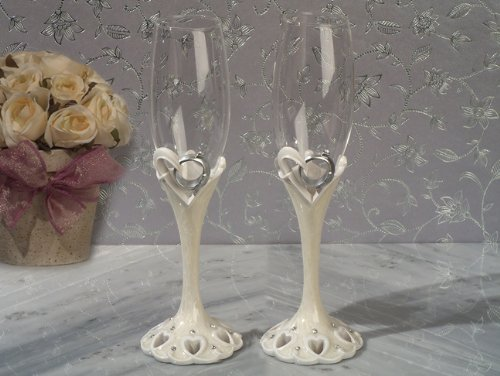 1PC CC1818 Two Become One Collection Flutes Set Wedding Favors & Accessories