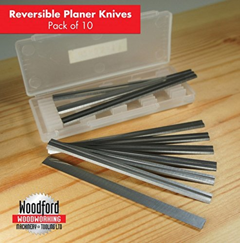 10 Pcs 80.5mm x 5.5 x 1.1mm planer blades replacement for Silverline 273237 TC Planer Blades to fit makita, bosch dewalt black & decker -(3-1/6 inch Inch)
